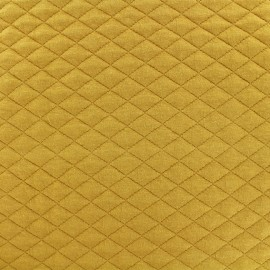Quilted fabric single-sided Diamond - Mustard Yellow x 10cm