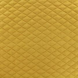 Tissu matelassé simple face losanges - Moutarde x10cm