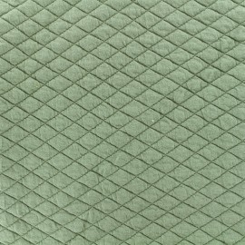 Quilted fabric single-sided Diamond - Sauge x 10cm