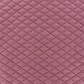 Quilted fabric single-sided Diamond - Old pink x 10cm