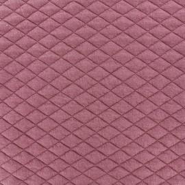 Tissu matelassé simple face losanges - Vieux Rose x10cm
