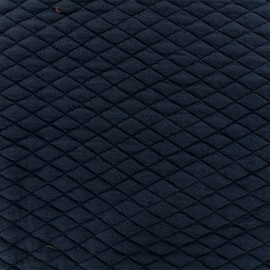 Quilted fabric single-sided Diamond - Dark blue x 10cm
