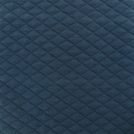 Quilted fabric single-sided Diamond - Petrol Blue x 10cm