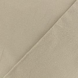 Tissu Flanelle - gris lin x 10cm