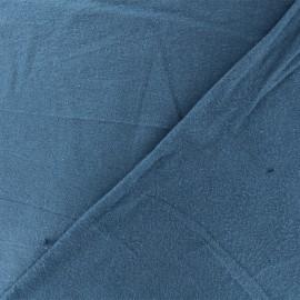 Tissu Flanelle - Bleu houle x 10cm