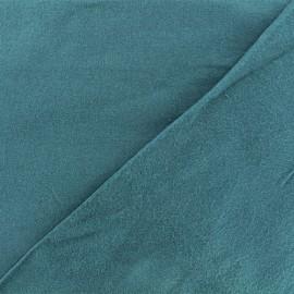Tissu Flanelle - Paon x 10cm