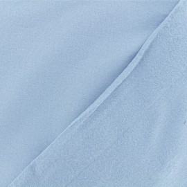 Tissu Flanelle - Bleu Niagara x 10cm