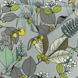 Alexander Henry fabric - grey A Ghastlie Botanical x 10cm