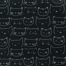 Flannel Fabric - White Chaton x 10 cm