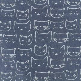 Flannel Fabric - Dark grey Chaton x 10 cm