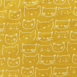 Flannel Fabric - Mustard Chaton x 10 cm