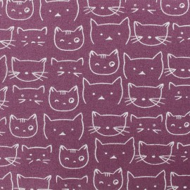 Flannel Fabric - Fig Chaton x 10 cm