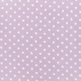 Tissu Flanelle Petit pois- Eau de rose x 10cm
