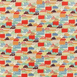 Alexander Henry fabric - red Rush Hour x 10cm