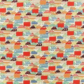 Tissu Alexander Henry Rush Hour - rouge x 10cm