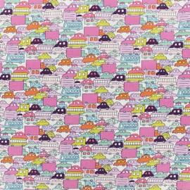 Alexander Henry fabric - pink Rush Hour x 10cm