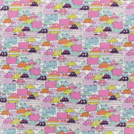 Alexander Henry fabric - pink Rush Hour x 10cm