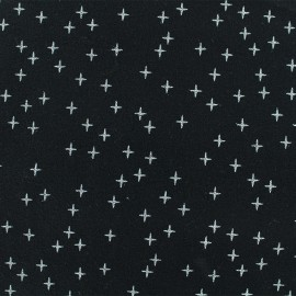 Flannel Fabric - Black Cross x 10 cm