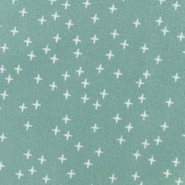 Flannel Fabric - Sauge green Cross x 10 cm