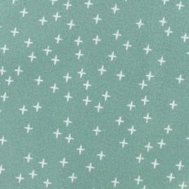 Tissu Flanelle Cross - vert sauge x 10cm