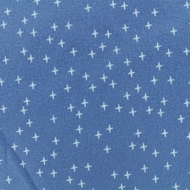 Flannel Fabric - Blue Swell Cross x 10 cm