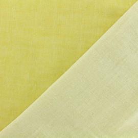 ♥ Coupon 350 cm X 110 cm ♥ Tissu Kiyohara double gaze de coton reversible Chambray - jaune