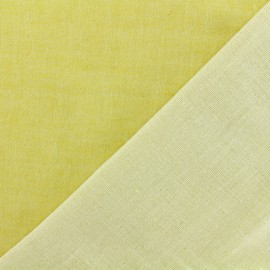 Reversible Yellow Double Gauze Fabric Chambray - Kiyohara x 10cm