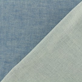 Reversible blue jean Double Gauze Fabric Chambray - Kiyohara x 10cm