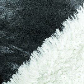 Fur fabric double sided - black x 10cm