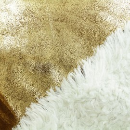 Fur fabric double sided - gold x 10cm