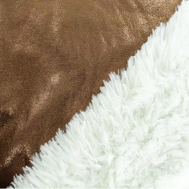 Fur fabric double sided - Bronze x 10cm