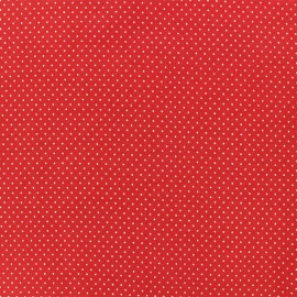 Jersay fabric - Mini Pois Red x 10cm
