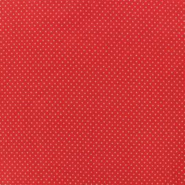 Tissu jersey Mini Pois - Rouge x 10cm
