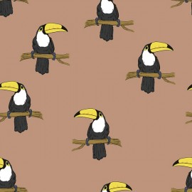 Organic Jersey Fabric - sienna Mr Tucan Bloome Copenhagen x 10cm