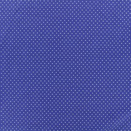 Tissu jersey Mini Pois - Bleu x 10cm