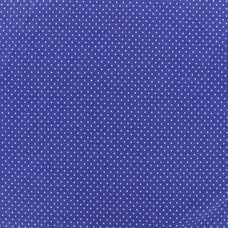 Jersay fabric - Blue Mini Pois  x 10cm