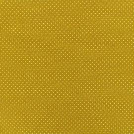 Jersay fabric - Mustard Mini Pois  x 10cm