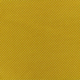 Tissu jersey Mini Pois - moutarde x 10cm