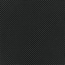 Jersay fabric - Black Mini Pois  x 10cm