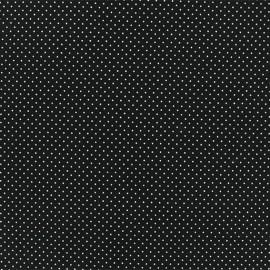 Tissu jersey Mini Pois - Noir x 10cm