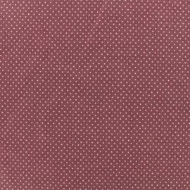 Tissu jersey Mini Pois - Figue x 10cm