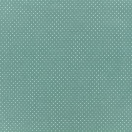 Jersey fabric - Sauge green Mini Pois  x 10cm