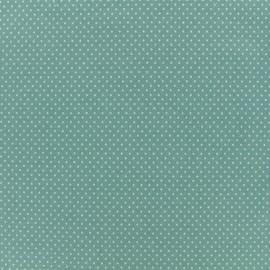 Tissu jersey Mini Pois - Sauge x 10cm