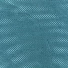 Tissu jersey Mini Pois - Pétrole x 10cm