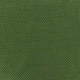 Tissu jersey Mini Pois - Vert x 10cm