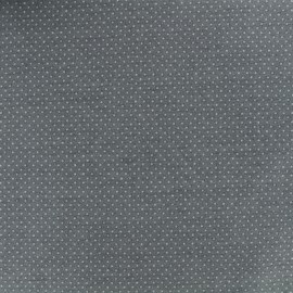 Tissu jersey Mini Pois - Gris x 10cm