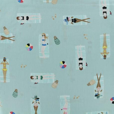 Coton/Rayon fabric - Cotton Steel Sun Girl Sky x 10cm