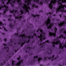 Strucked Elastane velvet fabric - Purple Betty x 10cm
