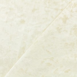 ♥ Only one piece 40 cm X 160 cm ♥  Elastane Crushed velvet fabric - Off white Betty