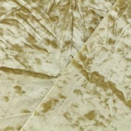 Tissu velours Frappé Élasthanne Betty - beige x10cm